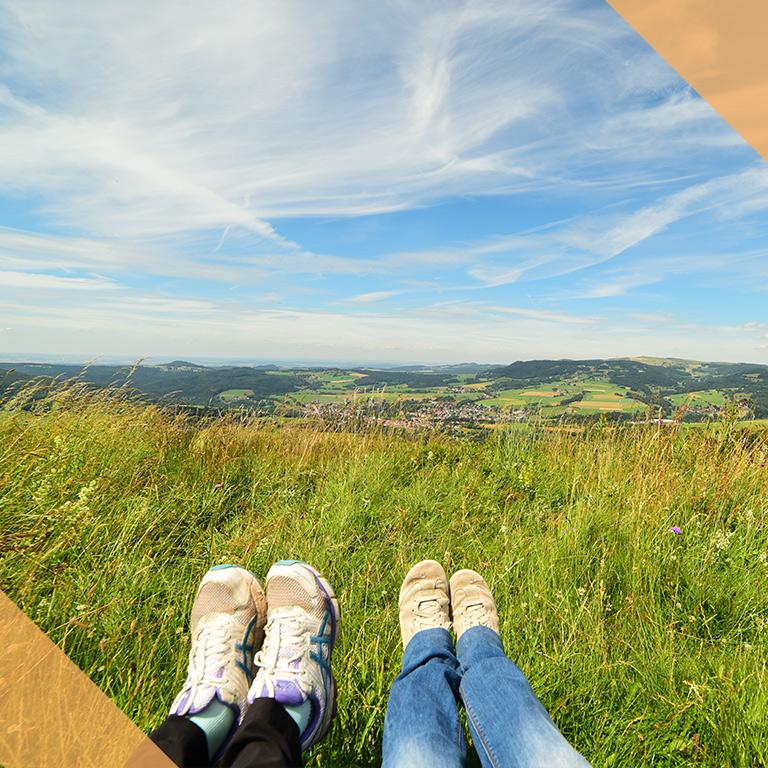 Blick vom Himmeldunkberg